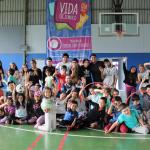 Niños disfrutan sus vacaciones en Polideportivo UC Temuco